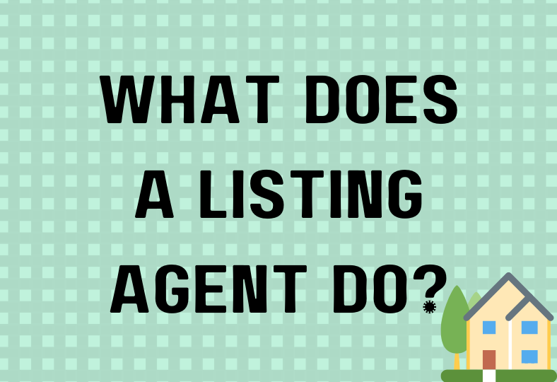 What does a listing agent do?